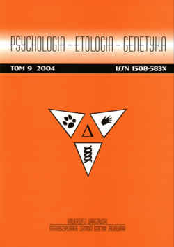Psychologia - etologia - genetyka. Tom 9. 2004.